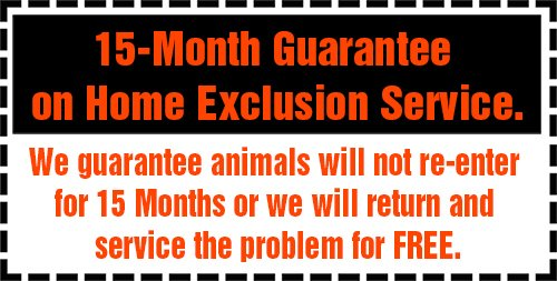 15-Month Guarantee on Home Exclusion Service